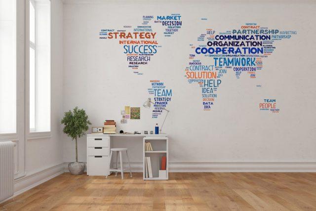 muur ideeen kantoor