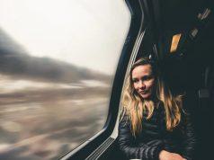 trein naar werk