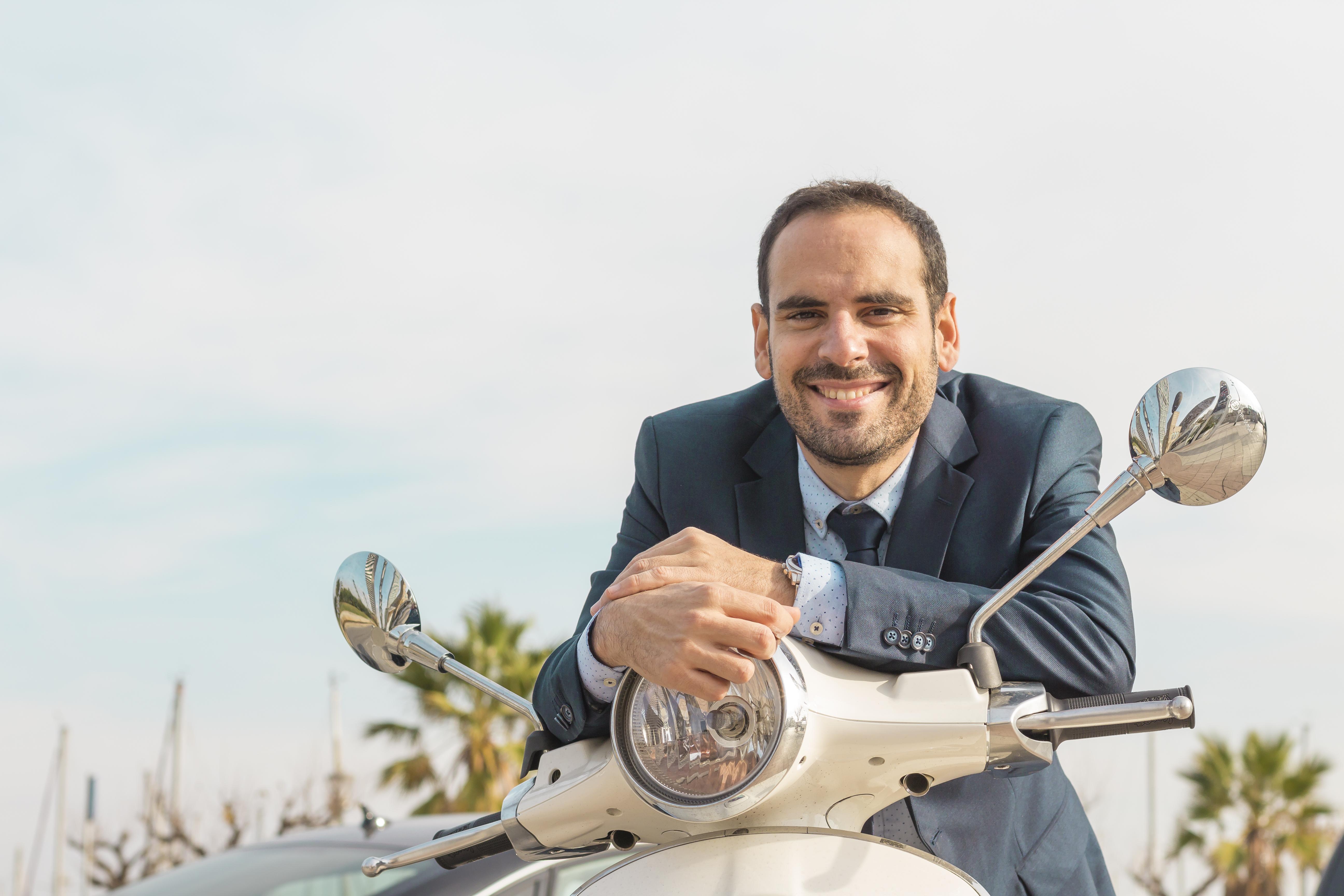 Zakelijk rijden op motor of scooter