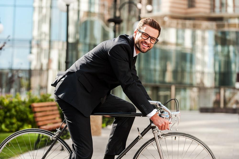 Op je fiets naar werk