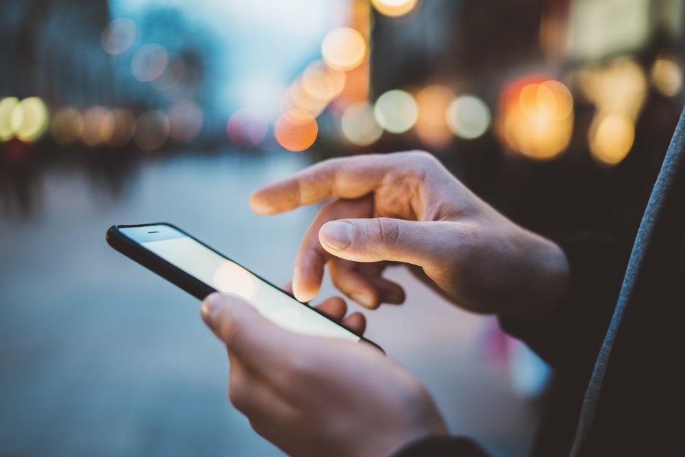 Smartphone van de zaak